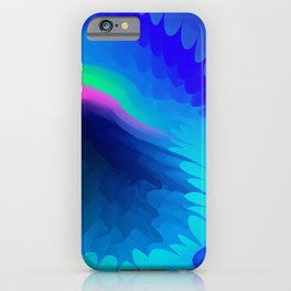 The emblem of an eagle bird head in motion blur. Medal with the image of an eagle on a blue backgrou iPhone Case