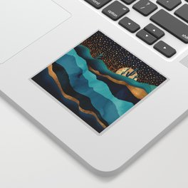 Indigo Desert Night Sticker