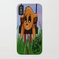 simba iPhone & iPod Cases featuring Chibi Simba by LK17