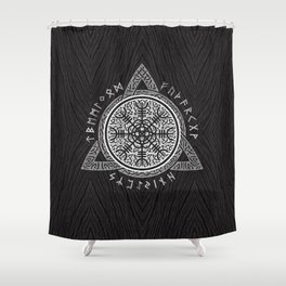 The helm of awe Shower Curtain