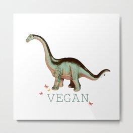 vegan dino: say what??  Metal Print