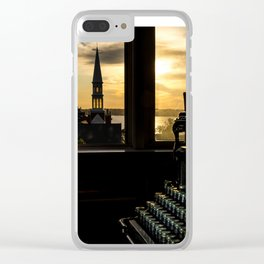 The Sunrise, Steeple & Typewriter Clear iPhone Case
