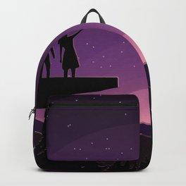 Falling star night Backpack