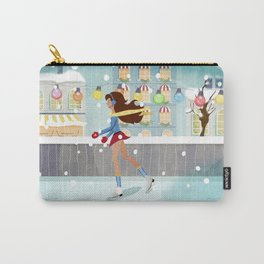Ice Skating Girl Carry-All Pouch