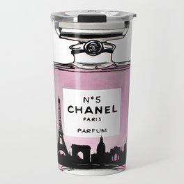 Paris perfume fashion illustration eiffel tower Travel Mug