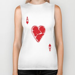 Delicious Deck: The Ace of Hearts Biker Tank