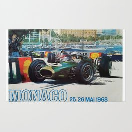 Gran Prix de Monaco, 1968, original vintage poster Rug