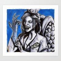 blink 182 Art Prints featuring Don't Blink-182 by ZACKSPLOITATION! Art by Zack Morrissette