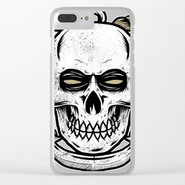 Anchor Skull Clear iPhone Case