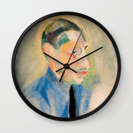 Igor Stravinsky (1882 – 1971) by Robert Delaunay in 1918 Wall Clock