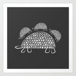 Persian Tortoise Motif Art Print