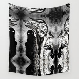 Dialogue With A Demon Wall Tapestry