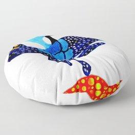 Blue Lucky Floor Pillow