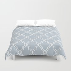 BlueGray Moroccan Duvet Cover