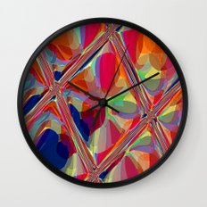 Re-Created  Glass Ceiling VIII by Robert S. Lee Wall Clock