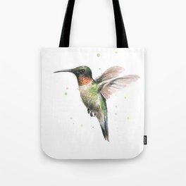 Hummingbird Watercolor Bird Animal Ruby Throated Tote Bag