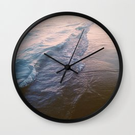 Sunset waves Wall Clock