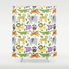 Kids Jungle Design Shower Curtain