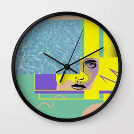 The urge to be close to water Wall Clock
