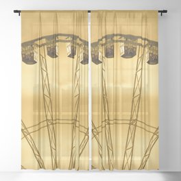 Carnival Cryptography Sheer Curtain