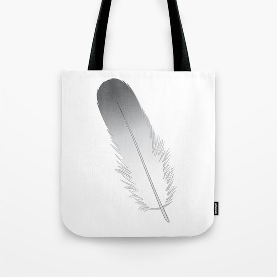 White Fuzz Feather Tote Bag