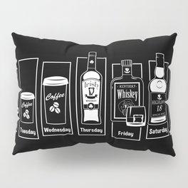 Coffee Whiskey Calendar Pillow Sham