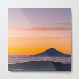 Mountain in the Clouds Metal Print