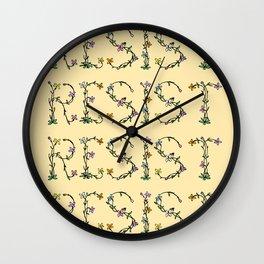 RESIST Wall Clock