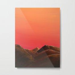 Red Mountains Metal Print