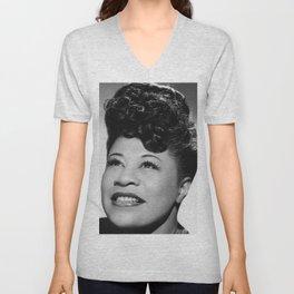 Ella Fitzgerald - Black Culture - Black History Unisex V-Neck