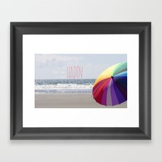 Too Much Happy Framed Art Print