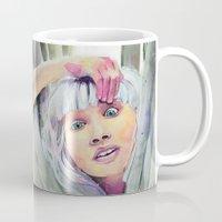 chandelier Mugs featuring Chandelier Girl by Alina Rubanenko