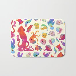 Cephalopod - pastel Bath Mat