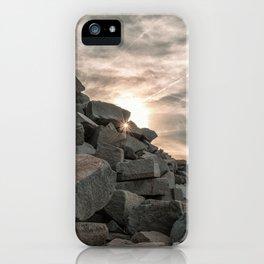 Rocks sky and sea iPhone Case