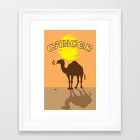 cancer Framed Art Prints featuring Cancer by Tony Vazquez