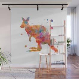 Colorful Kangaroo Wall Mural