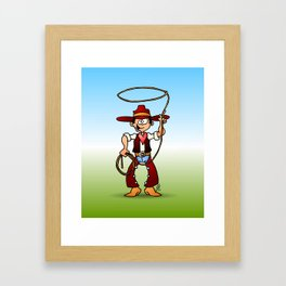 Cowboy with a lasso Framed Art Print