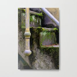 Mossy Fort Steps Metal Print