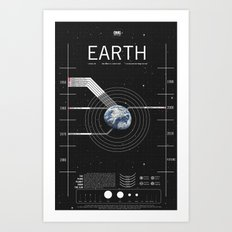 OMG SPACE: Earth 1950 - 2000 Art Print