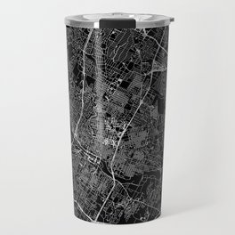 Austin Black Map Travel Mug