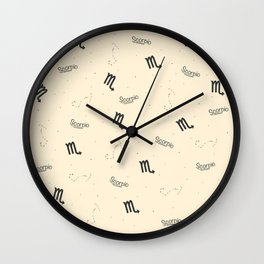 Scorpio Pattern - Beige Wall Clock