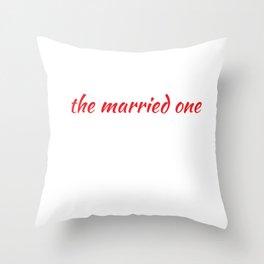 Groomsman The Married One Wedding Throw Pillow