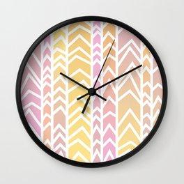 Vertical2 - Sherbert Wall Clock