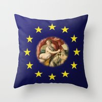 europe Throw Pillows featuring Europe by Turul