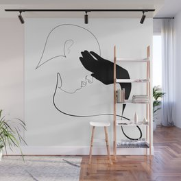 hideout - single line drawing Wall Mural