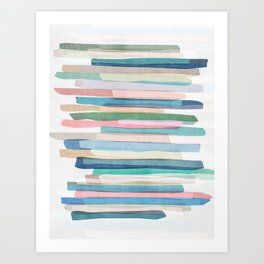 Pastel Stripes 1 Art Print