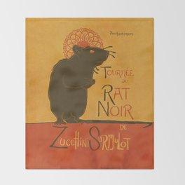 Le Rat Noir Throw Blanket