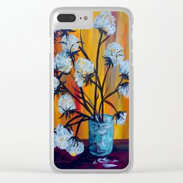 Bouquet of Cotton Clear iPhone Case
