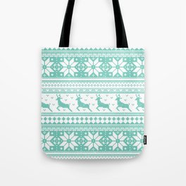 Reindeer Sweater Tote Bag