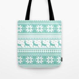 Reindeer Sweater Tote Bag